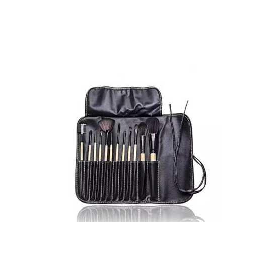 12 Piece Makeup Brush Set With Bag