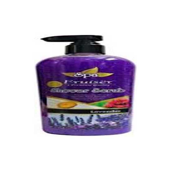Fruiser Spa Shower Scrub, Lavender(730 ml)