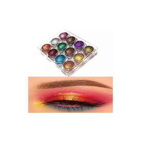 Perresd Glitters eye shades Kit 12 Shades