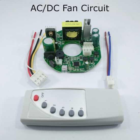 AC/DC Ceiling Fan Circuit 45W Kit Module Remote
