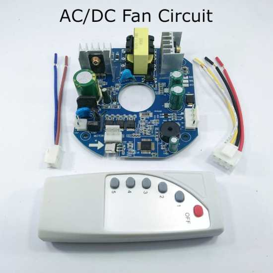 AC/DC Ceiling Fan Circuit 60W Kit Module Remote