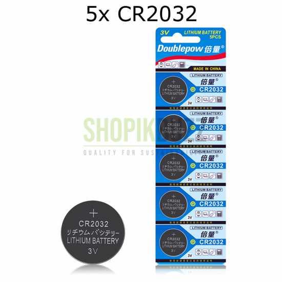 5pcs CR2032 Button Battery 3V Lithium Coin Cells