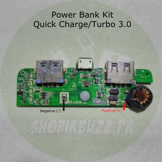Turbo Charge Quick Charge 3.0 Dual Port Power Bank Kit Module Circuit