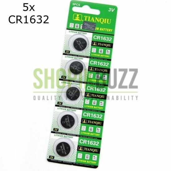 5x Cr1632 Cr 1632 Ecr1632 Dl1632 Kcr1632 Lm1632 3V Lithium Button Battery Cell