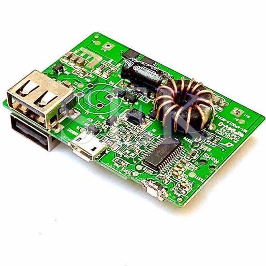 Dual port Power Bank Circuit Power bank Kit Module 5v 1A & 2A