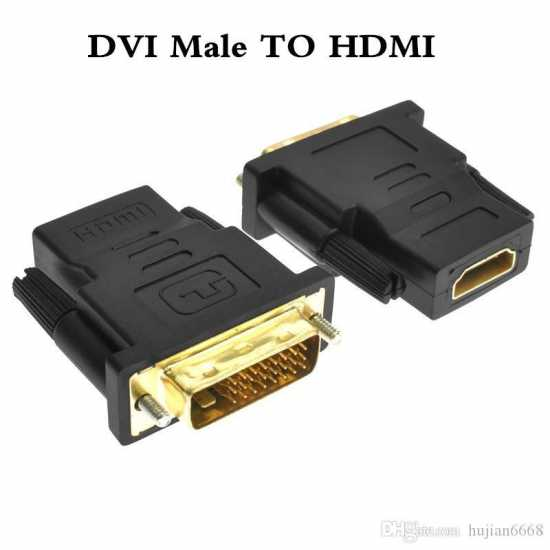Pack of 2 HDMI Female To DVI Male Connector and Branded HDMI Cable Lead 1.5m