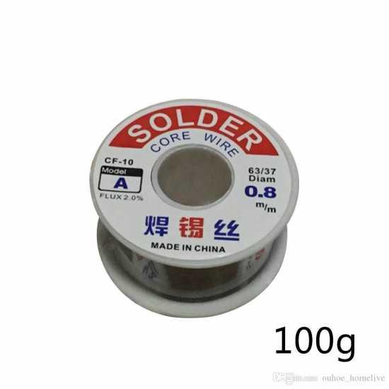 Roll Flux Solder Wire Reel Solder Wire Tin 0.8Mm 50g/100g Tin Lead Line...