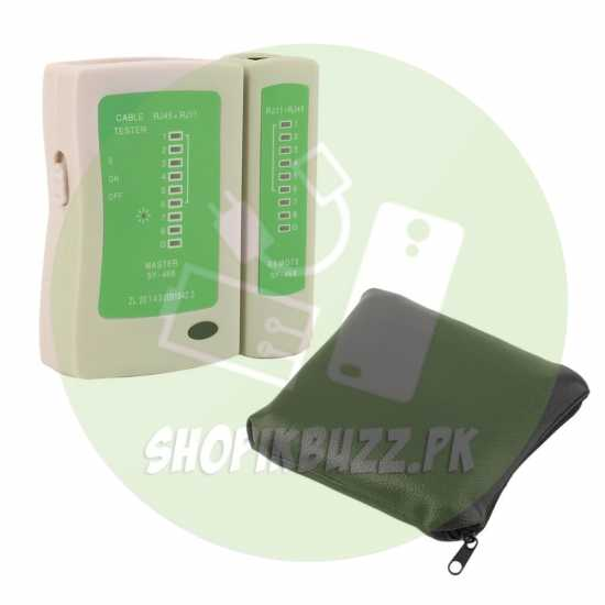 NETWORK CABLE TESTER + NETWORK CABLE CRIMP + RJ45 10 Connector