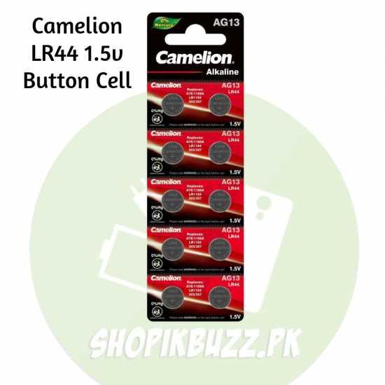 CAMELION 1.5V AG13 LR44 ALKALINE Batteries BUTTON CELLS FOR CALCULATORS...