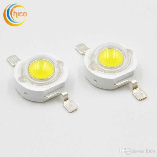 1W LED Bulbs High power 1W LED Lamp Pure White/Warm White (Pack of 5)