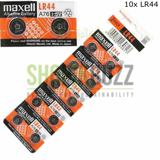 10pcs AG13 LR44 LR1154 SR44 A76 357A 303 357 1.5v Alkaline Button Cell Battery