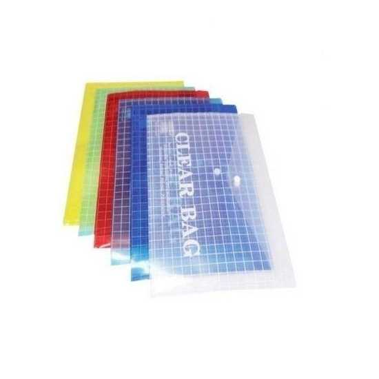 Pack of 6 My Clear Bag - Multicolour
