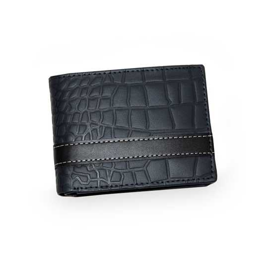 Customized Genuine Leather Wallet for Men Crocodile Design Leather Name...