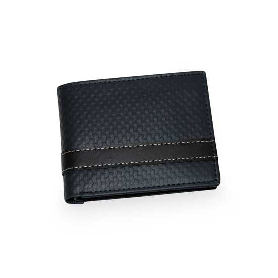 Genuine Leather Wallet for Men Blue Texture With Beautiful Box Packing