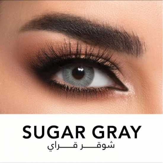 Lensme Sugar Gray eye contact lens with Impact solution kit(100% Original )