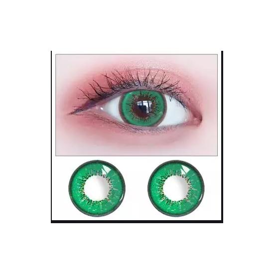 Eyes Contact Lenses Green Color WIith Case