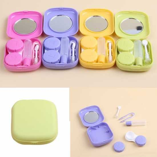 Cute Style Pocket Mini Contact Lens Case Travel Kit