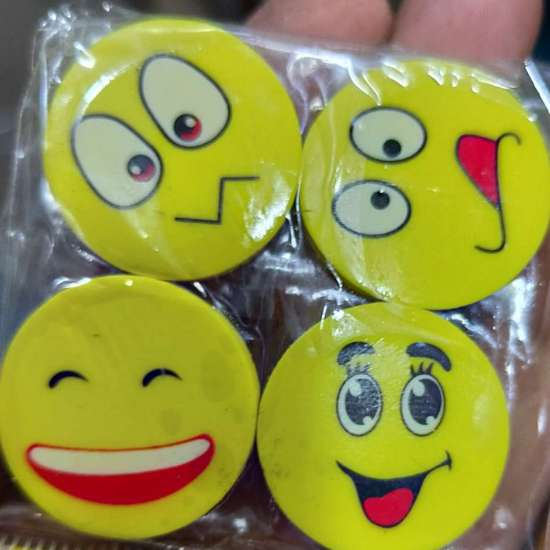 Emoji fancy eraser's pack of 4