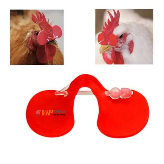 25 pcs - Chicken Peepers Eye Glasses Pheasant Poultry Blinders Spectacle
