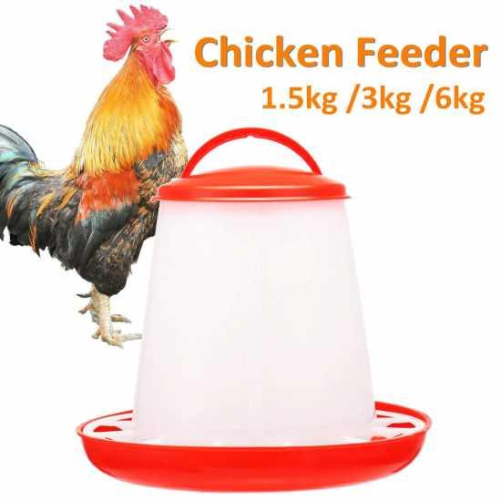Lot/5 Pcs. Chicken Feeder Drinker Poultry Feeder PW01 - 1 L H19*D17.5 CM