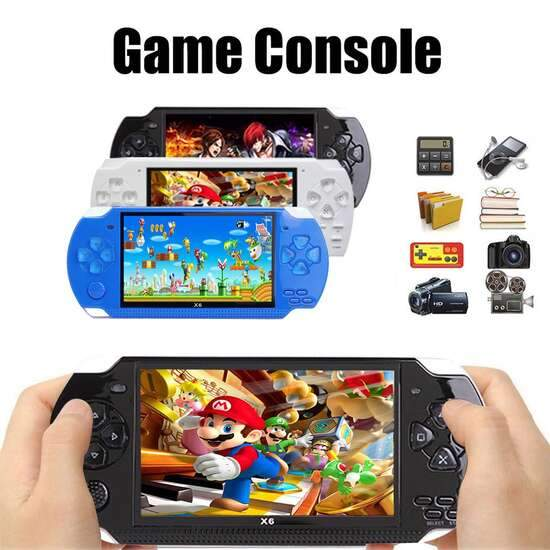 X6 Upgraded Version of Handheld Game Machine MP5 Player Support NES Games hot...