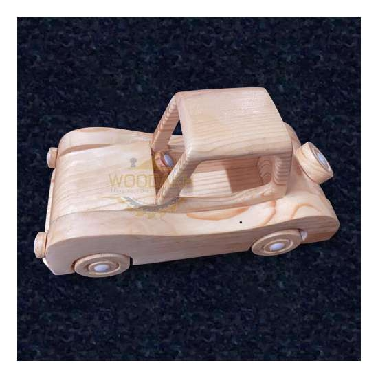 Organic Wooden Toy Car Solid Wooden Toy for Babies Toddlers and Preschoolers...