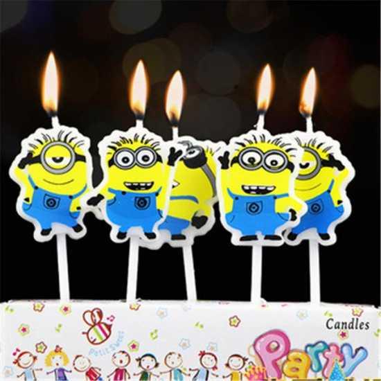 Minion Theme Birthday Candles