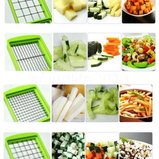 12 in 1 Speedy Dicer Plus Fruit and Vegetable Slicer Precision Cutting