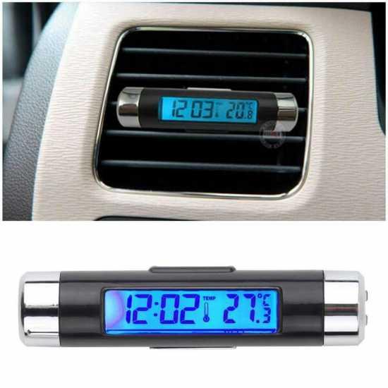 Car Digital Backlight Automotive Thermometer Clock