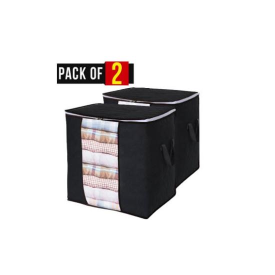 Pack of 2 New Non Woven Portable clothes Portable Storage Bag, Organizer...