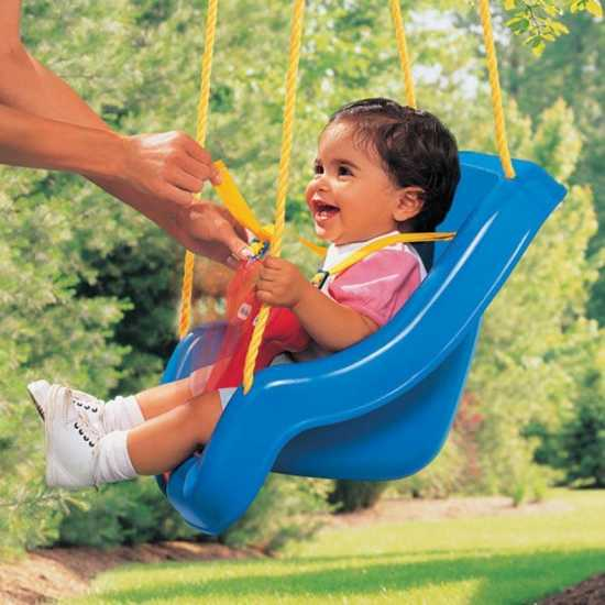 Baby Swing Seat With Rope & Mounting Rings Kids Outdoor Garden, outdoor...