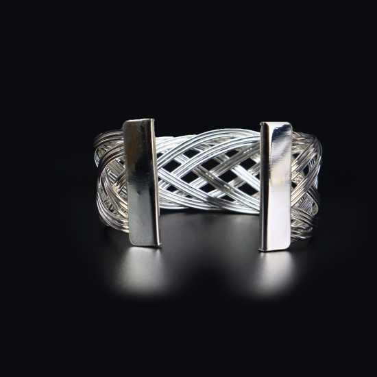 steel metal stretchable  bracelet for women/ elegant style  / new carom...