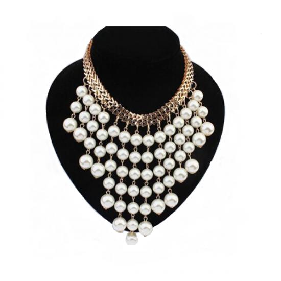 Aesthetics Design Beads Gold Chocker Collar Necklace For Women
