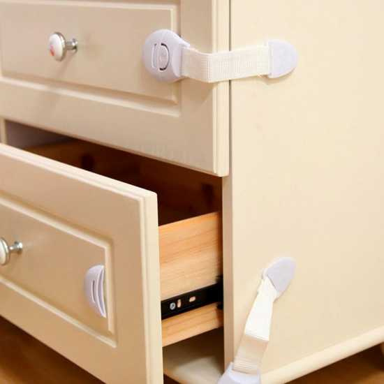 Plastic Child Safety Locks For Drawers, Doors And Refrigerators Child Safety...
