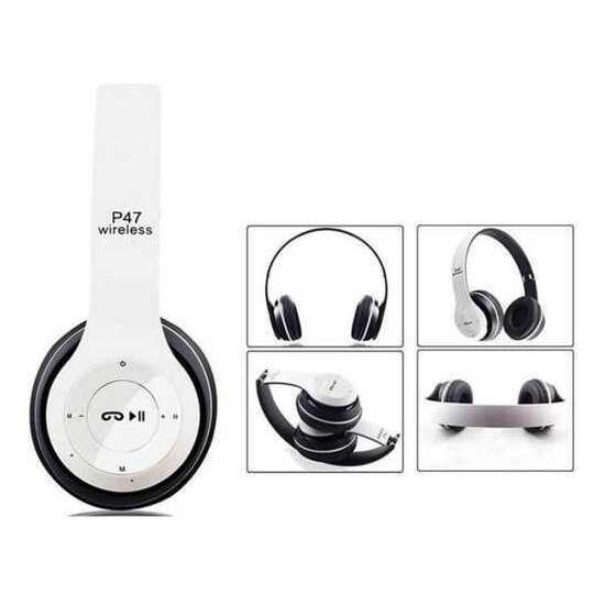 Wireless Headphones, P47 Bluetooth Over Ear Foldable Headset with Microphone...