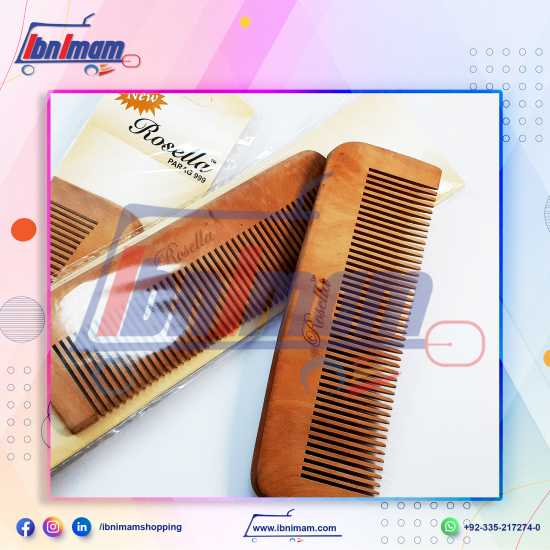 Wooden hair comb for anti-hair fall – Large– 1 piece