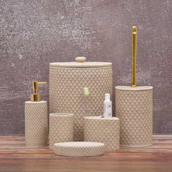 Bath Room Accessories Set- Ceramic Bath Sets 6 Pcs- Bath Soap Dispenser Set