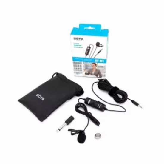 1 Year Official Warranty - Boya Mic M1 Lavalier Collar Microphone for Canon...