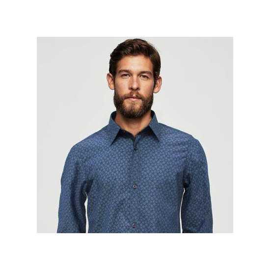 Funkys Zinc Micro Floral Print Casual Shirt