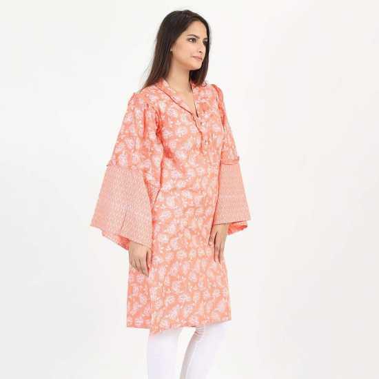 ZEAL, Cotton MultiColor Kurta for Women in Cotton Fabric
