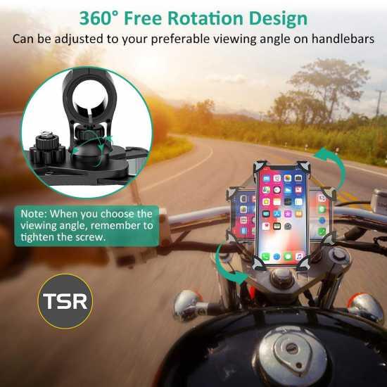 BICYCLE PHONE HOLDER, MOTORCYCLE HANDLEBAR CELL PHONE MOUNT, STROLLE BIKE...