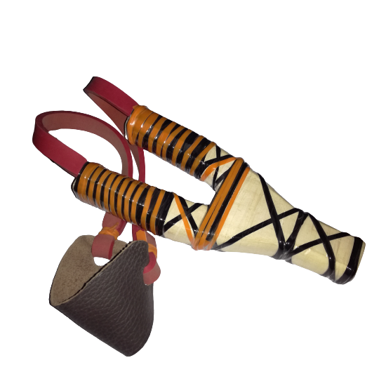 Ghulail Handmade Wooden Handle Slngsht Gulail With Flexible Rubber