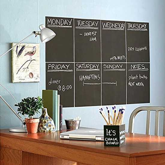 Black Matte Adhesive Chalkboard Contact Paper Vinyl Wall Decal Poster for...