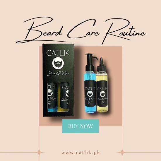Beard Care Routine - Men Beard Oil & Beard Shampoo