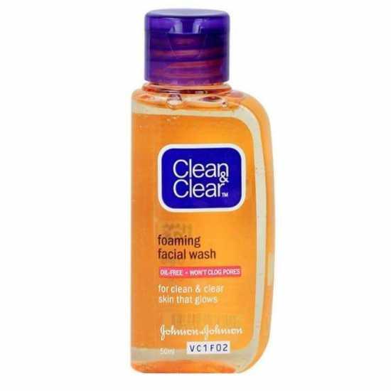 New Imported Cleean & Cleear Essentials Foaming Facial Wash 50 ML