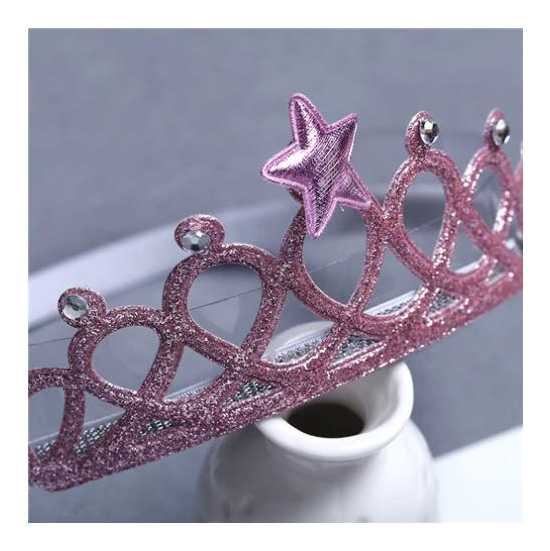 Baby Headwear Gold Silver Crown Hair Accessories Girls Elastic Headband...