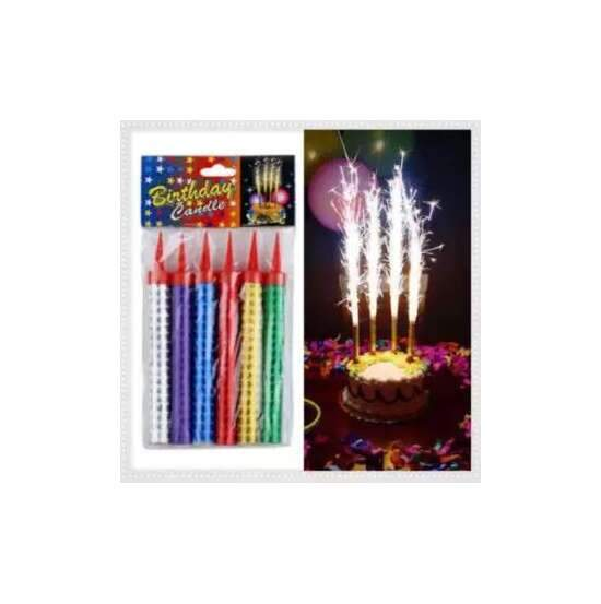 Pack Of 6 New Year, Birthday,Party Sparkling & Fountain Candles