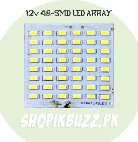 12v 15w 48 Smd Super Bright White Led Light Panel Led Array led Plate led Strip