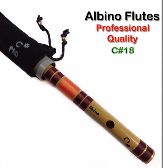 Albino C# Professional Medium Scale Side Blown Bamboo Bansuri/ Flute