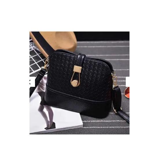 New Ladies fashion braided shoulder bag hobo cross body shell bag women...